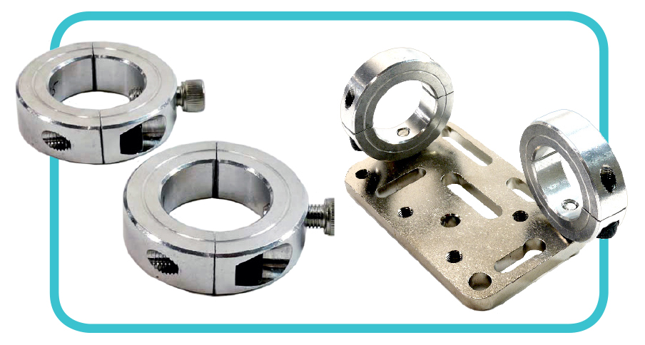 Collar Clamps for Mounting to Round Tube Wheelchair Frames