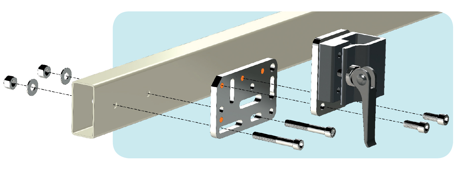 How to Mount to Fram Tubing with Through Holes - Wheelchair