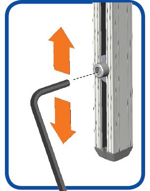 Wheelchair Mount Post Height Set Screw