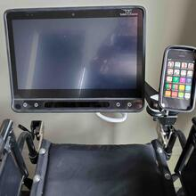 Dual Arm Mount'n Mover for Tobii and Single Arm Easy Mover for phone