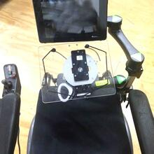 Double Decker ipad and speech device dual arm and single arm