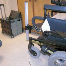 Invacare Storm, mounted using the T-Nut (WC-TN), and Adapter Plate 2(WC-AP2)