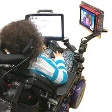 double-decker-with-aac-and-ipad dual arm and single arm
