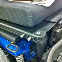 Slide Track Example Quantum Q6 Edge wheelchair (T-Nut already inserted)