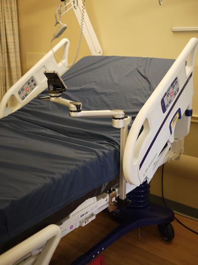 Stryker Bed with Mount'n Mover: A longer post may be used, and an extension offset can move it inward or closer to the head.