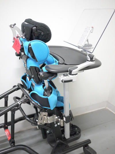 Approach 1: Mygo Stander, attached with plates and bridge clamp