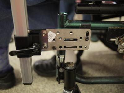 Bridge clamps: one horizontal and one vertical, with an AP2 adapter plate, and Solid Wheelchair Bracket.