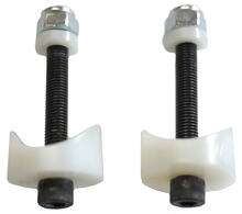 Coved spacer provides a stable attachment to round tubes with holes