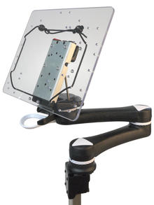 iPad Tablet Tray w/ Universal Rotator, QRP, M2
