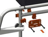 Attach bridge clamps to the horizontal tube and vertical tube, bridging them with an Adapter Plate.