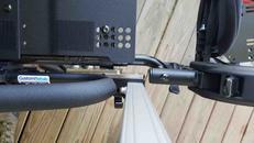 Mounting to through holes in frame birds eye view