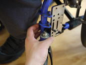 "Create a Bridge clamp with two clamps and an Adapter Plate 2. Horizontal tube is 1""; vertical tube is 7/8""."