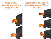 Use L-Angle Extension plates (WC-LAE) as Offsets