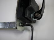 Loosen the bolt so the tube will slide in.