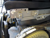 The Adapter Plate can be positioned further forward to offer an alternate Wheelchair Bracket position. Other offsets may be used, as well.