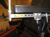 Non-Unitrack option. The armrest bracket has holes which can be used for attaching other hardware.