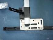 Insert the Post into the Solid Wheelchair Bracket; if necessary, use Offsets to reposition the WB2.
