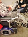 "The Mount'n Mover Wheelchair Bracket and post are ""offset"" to clear the tray"
