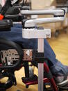 The Wheelchair Bracket is attached to the Adapter Plate 2, providing good placement for the mount.