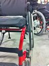 The sloping frame may require that you use an Angle Adjustment Plate to get the Wheelchair Bracket vertical.