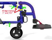 Zippie Xcape with swing away foot hanger