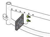 Approach 1: Use bolts and lock nuts through the square tube; position threaded holes outward