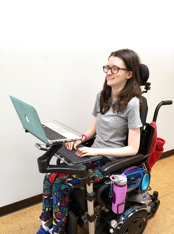 Wheelchair Mount for Laptop Computer and Keyboard
