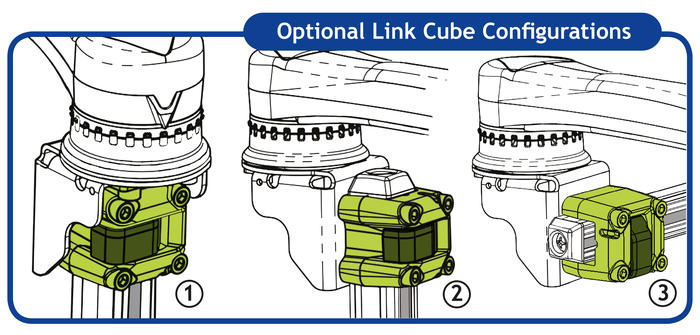 Wheelchair Mounting Options: Positioning a Link Cube